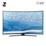 تلویزیون ال ای دی 4K UHD هوشمند منحنی سامسونگ مدل KU7350 سایز 49 اینچ
