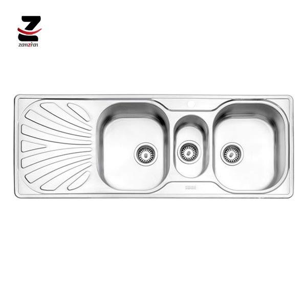 سینک ظرفشویی استیل البرز مدل 530 مولتی توکار فانتزی