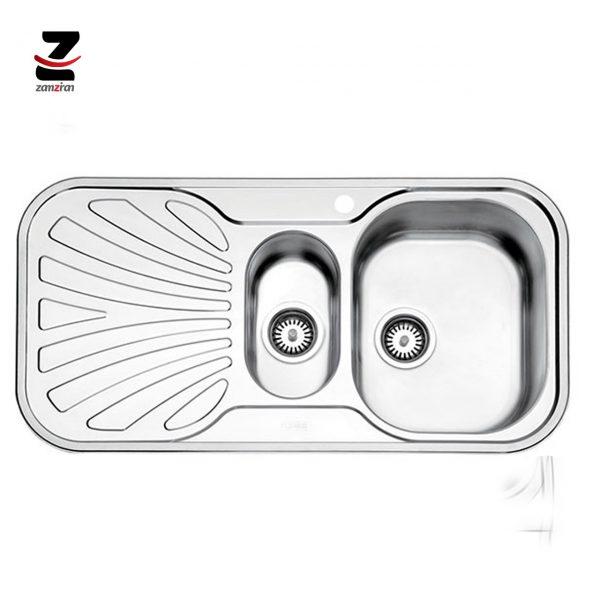 سینک ظرفشویی استیل البرز مدل 510 مولتی توکار فانتزی