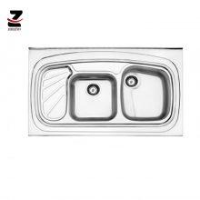 سینک ظرفشویی استیل البرز مدل 611 روکار فانتزی