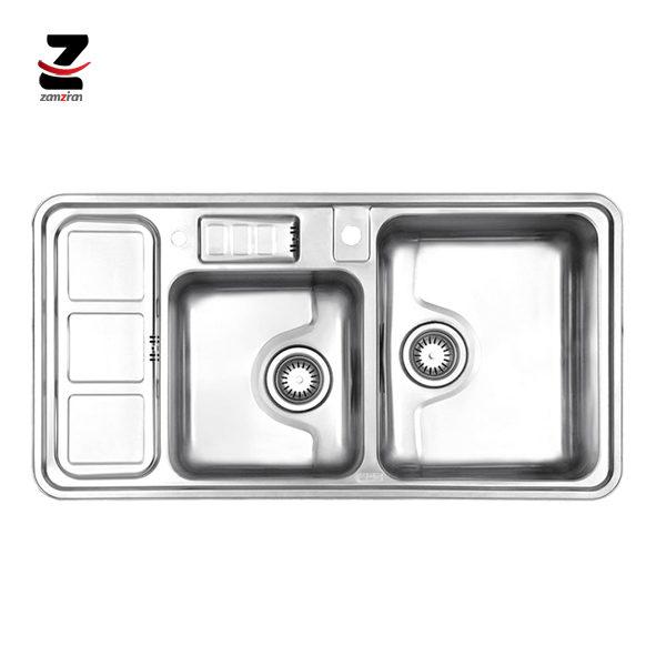 سینک-ظرفشویی-استیل-البرز-مدل-813-توکار-فانتزی-با-جامایع-01
