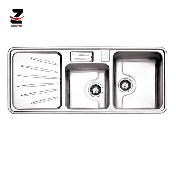 سینک-ظرفشویی-استیل-البرز-مدل-814-توکار-فانتزی-با-جامایع