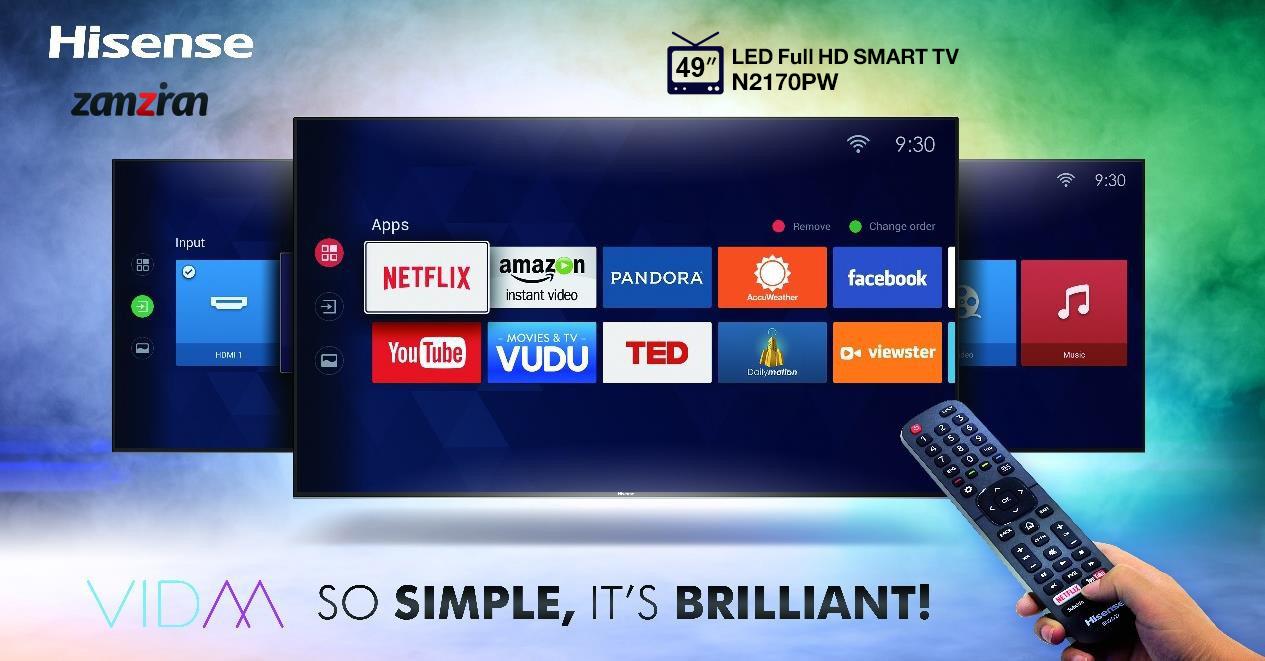 امکانات هوشمند تلویزیون 49 اینچ هایسنس