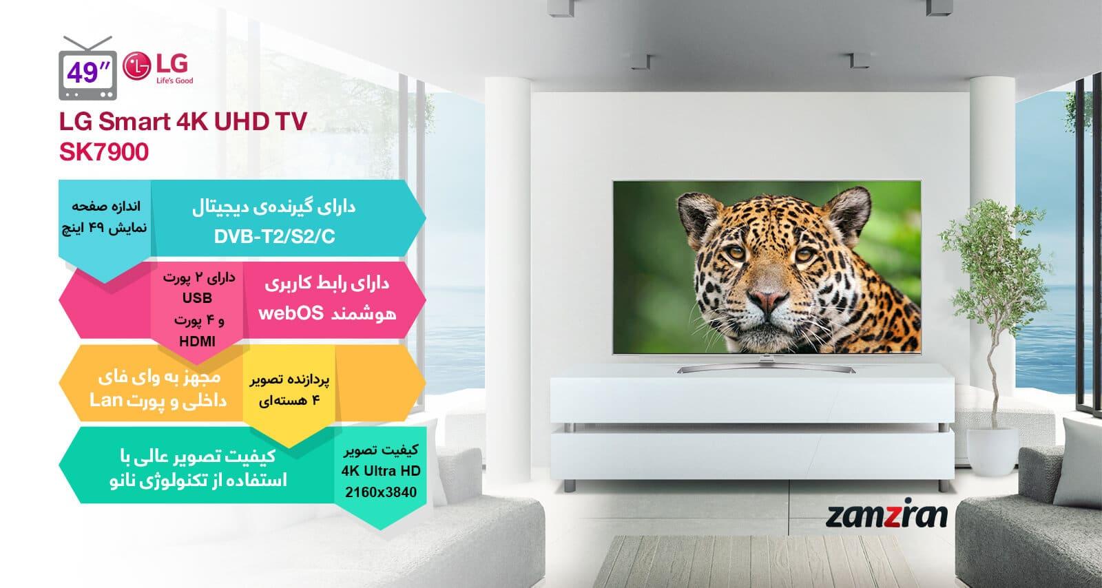 اینفوگرافی تلویزیون 49 اینچ الجی