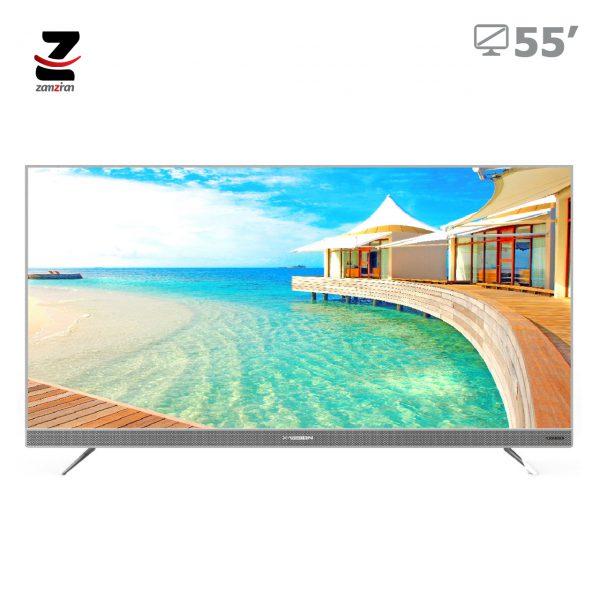 تلویزیون ال ای دی 4K-UHD هوشمند ایکس ویژن مدل XTU725 سایز 55 اینچ
