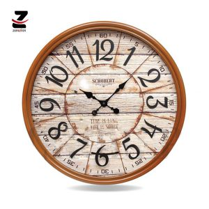 ساعت دیواری چوبی شوبرت مدل 6427