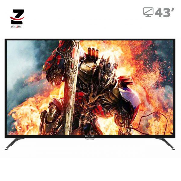 تلویزیون ال ای دی هوشمند Ultra HD 4K فیلیپس سایز 43 اینچ مدل 43PUT6002