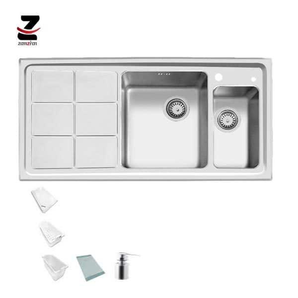 سینک ظرفشویی اخوان مدل 310 توکار