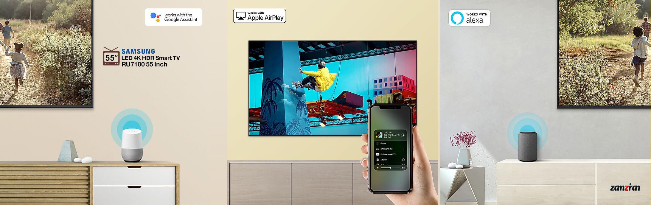 فناوری های هوشمند جدید تلویزیون سامسونگ RU7100