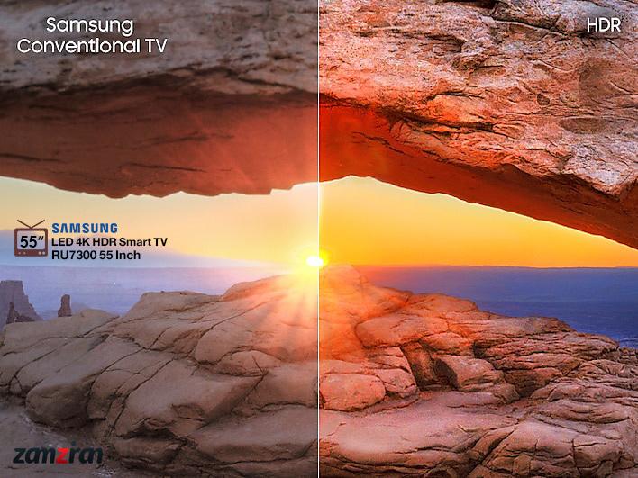 کیفیت و قابلیت های تصویری تلویزیون 55RU7300 سامسونگ