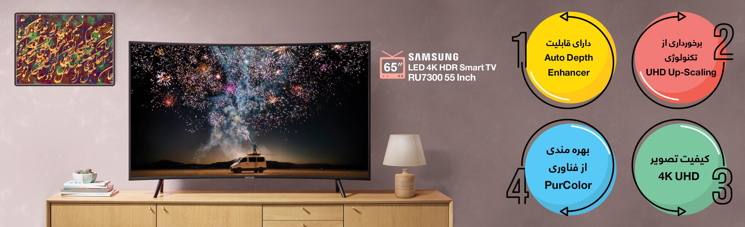 اینفوگرافی تلویزیون سامسونگ 55 اینچ RU7300