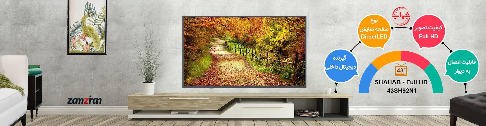 اینفوگرافی تلویزیون 43 اینچ شهاب